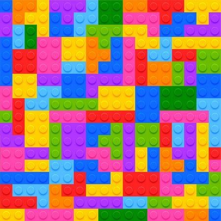 construction blocks brick game background design Illustration