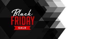 black friday geometric sale banner design Illusztráció