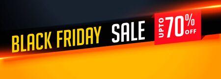elegant black friday sale banner with offer details