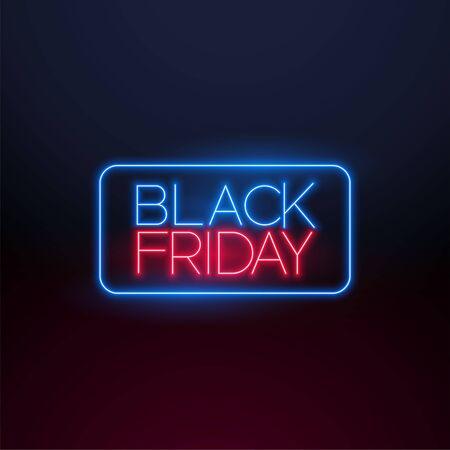 black friday neon light background design Illusztráció