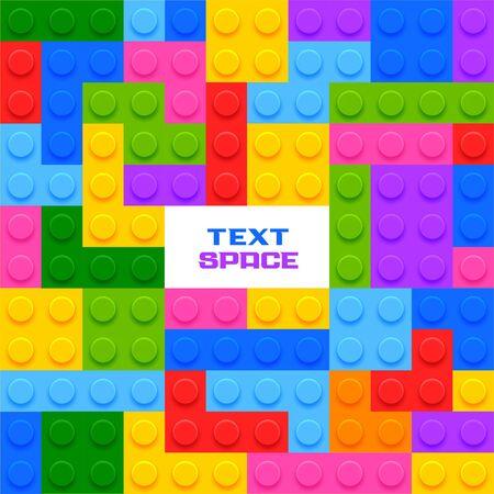 colorful plastic blocks game background