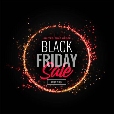 black friday sparkles sale background design