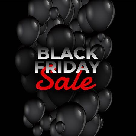 black friday sale balloons background design