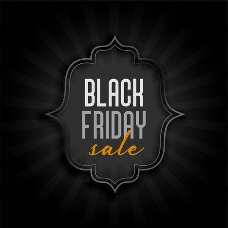 black friday holiday sale banner design Illusztráció