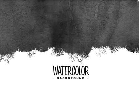 abstract black watercolor paint background Ilustracja