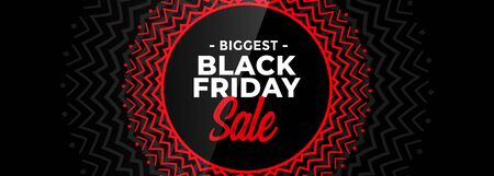 black friday decorative sale banner design Illusztráció