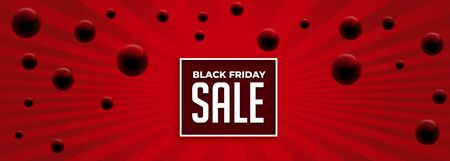 black friday abstract red sale banner design