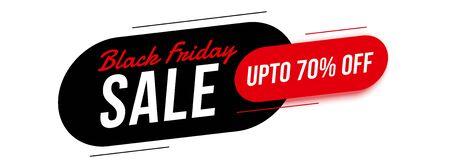 modern black friday sale banner with offer details