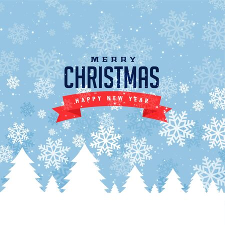 festival greeting for merry christmas and winter season