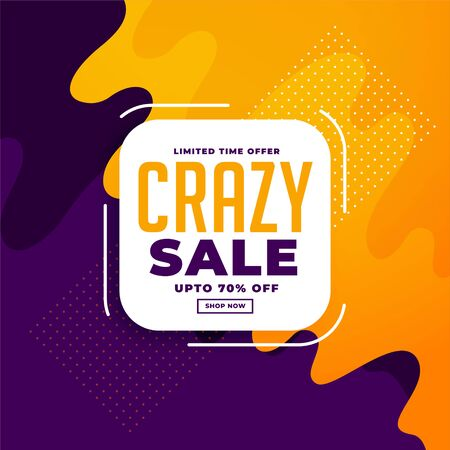 yellow and purple sale banner template design