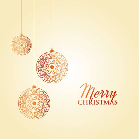 merry christmas festival card background decoration design