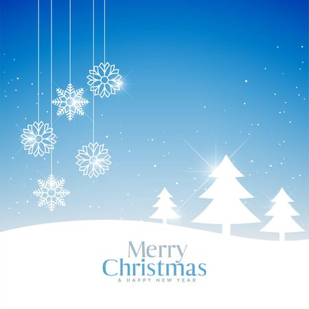 lovely merry christmas festival greeting beautiful background Stock Illustratie