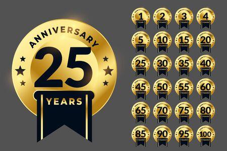 royal anniversary   golden emblem big set