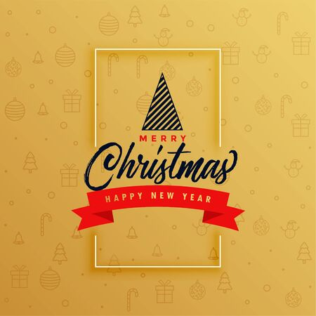 elegant merry christmas festival card design background