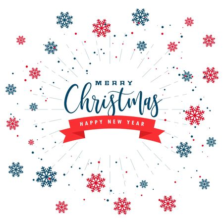 white christmas background with red black snowflakes