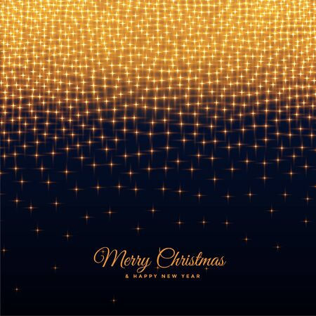 merry christmas and new year sparkles background design Stock Illustratie