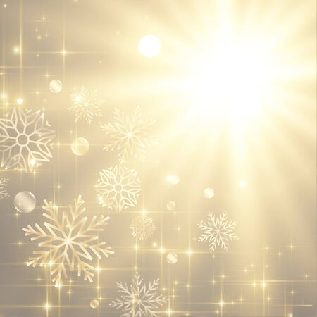 beautiful sparkles and snowflakes christmas festival background