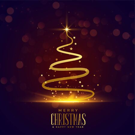 creative christmas tree design in line style