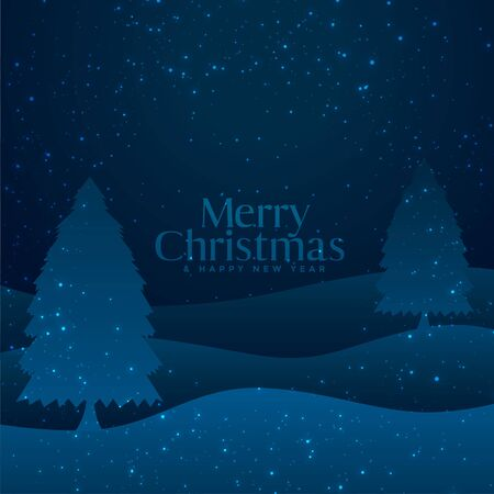 paper cut style merry christmas tree background Stock Illustratie