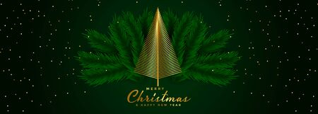 creative christmas tree with leaves background design