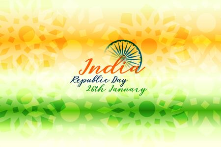 happy republic day of india tricolor background