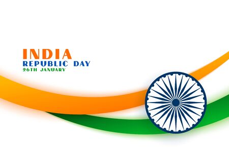 indian republic day tri color flag concept background