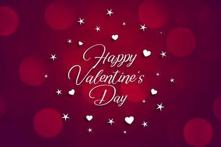happy valentines day beautiful bokeh background design