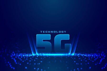 5G fifth generation technology digital background design Illusztráció
