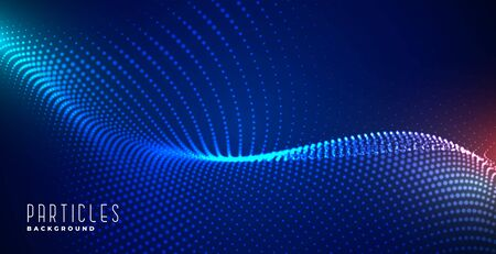 glowing digital particles blue technology background design