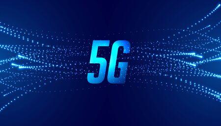 5G fifth generation fast speed telecom technology background Illusztráció