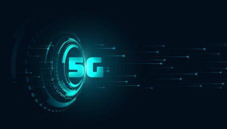 digital 5g fifth generation technology background design