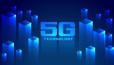 digital 5G technology concept network background design
