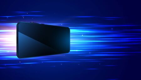 diseño de fondo digital de alta velocidad de tecnología móvil