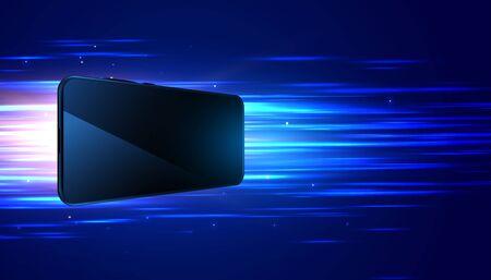 mobile technology fast speed digital background design