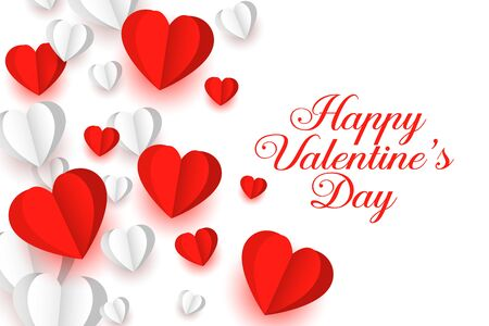 lovely red and white paper hearts background