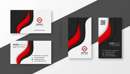 elegant red corporate business card template design