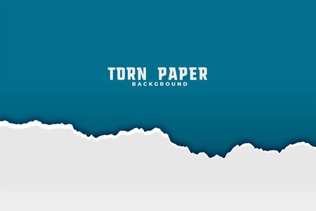 torn ripped paper background in two colors Vector Illustratie