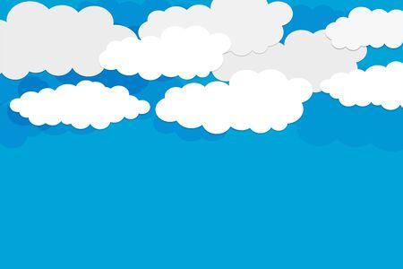 fondo de cielo azul con diseño de nubes blancas