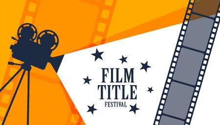 fondo di progettazione del manifesto del festival del film del cinema del cinema