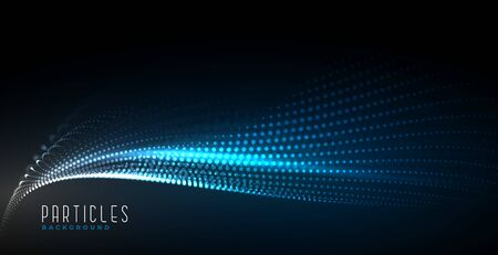abstract digital technology particle wave background design