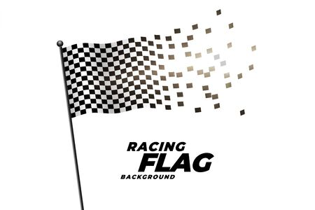 racing checkered flag background design