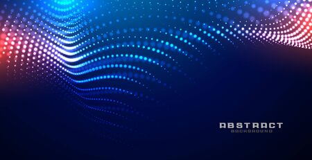 technology glowing wave mesh particles background design