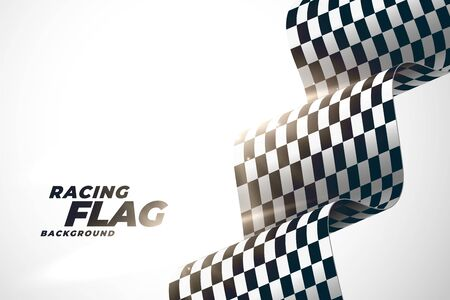 3d racing wavy flag background design 일러스트
