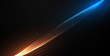 digital flowing particles technology background design