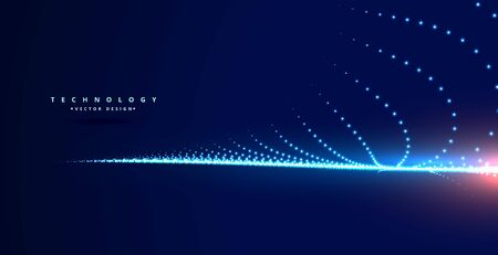 stylish technology blue background with particles