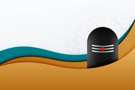 lord shiva shivling shivratri festival background design