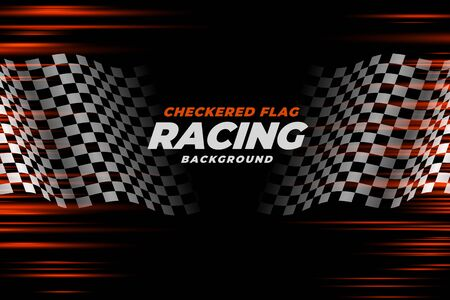 checkered racing flag speed background design