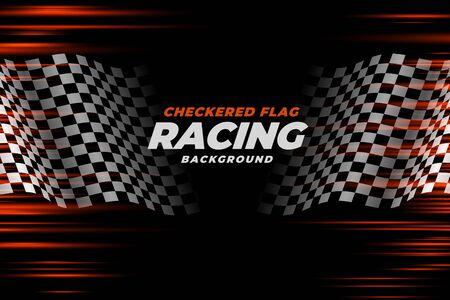 flaga wyścigowa w szachownicę projekt tła prędkości