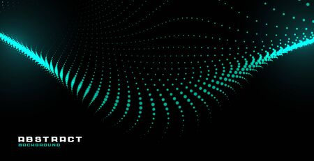 glowing abstract particle wave technology background design