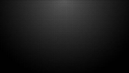 diseño de fondo de textura de fibra de carbono negro Ilustración de vector